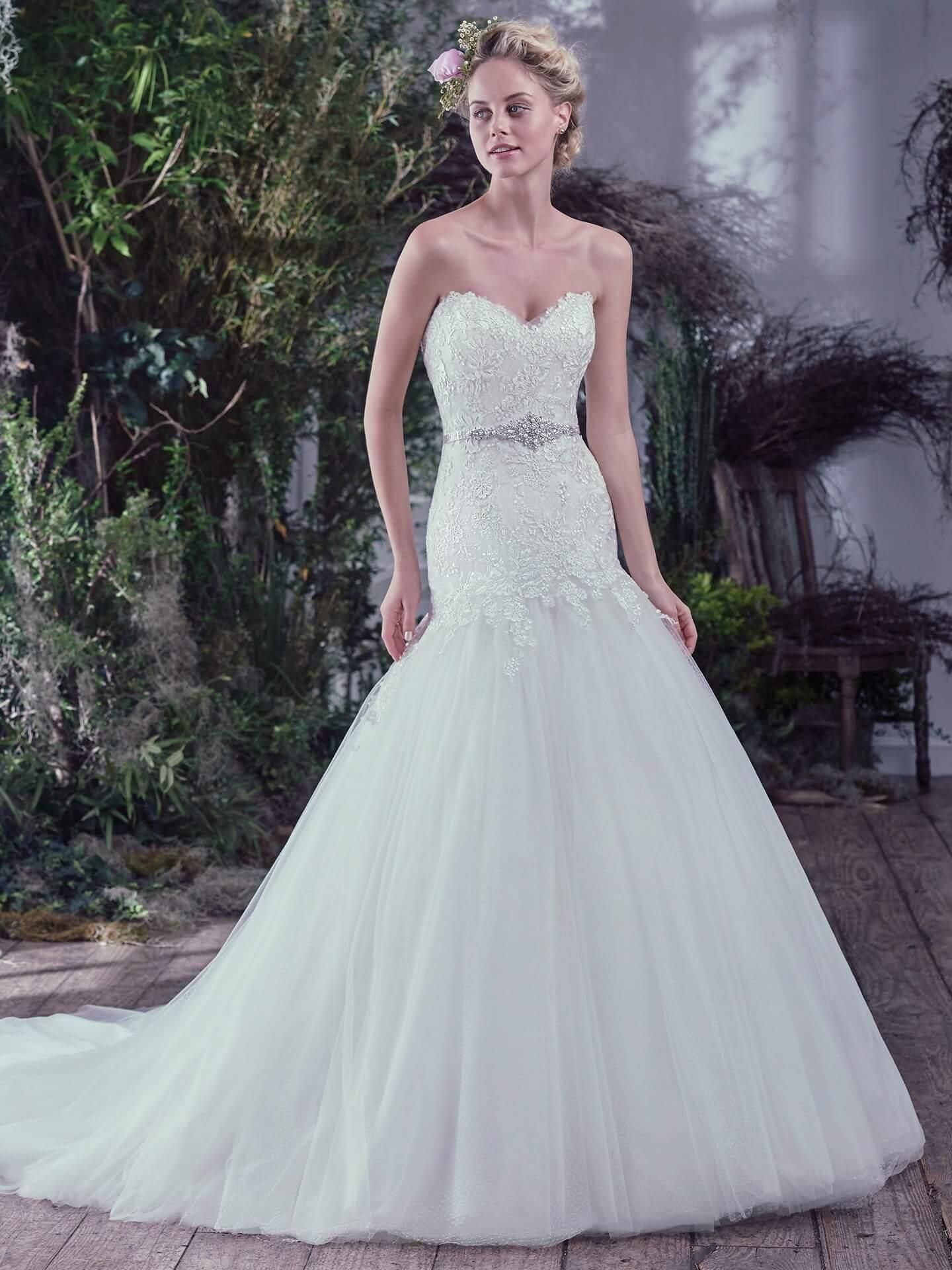 Funky Maggie Sottero Short Wedding Dresses Festooning - All Wedding ...